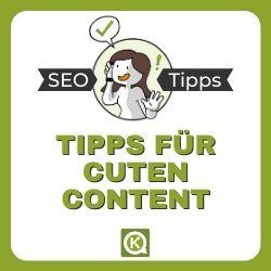 Tipps für guten Content