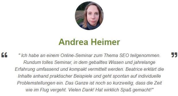 Rezension von Andrea Heimer