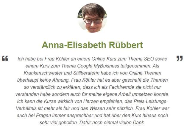 Rezension von Anna-Elisabeth Rübbert