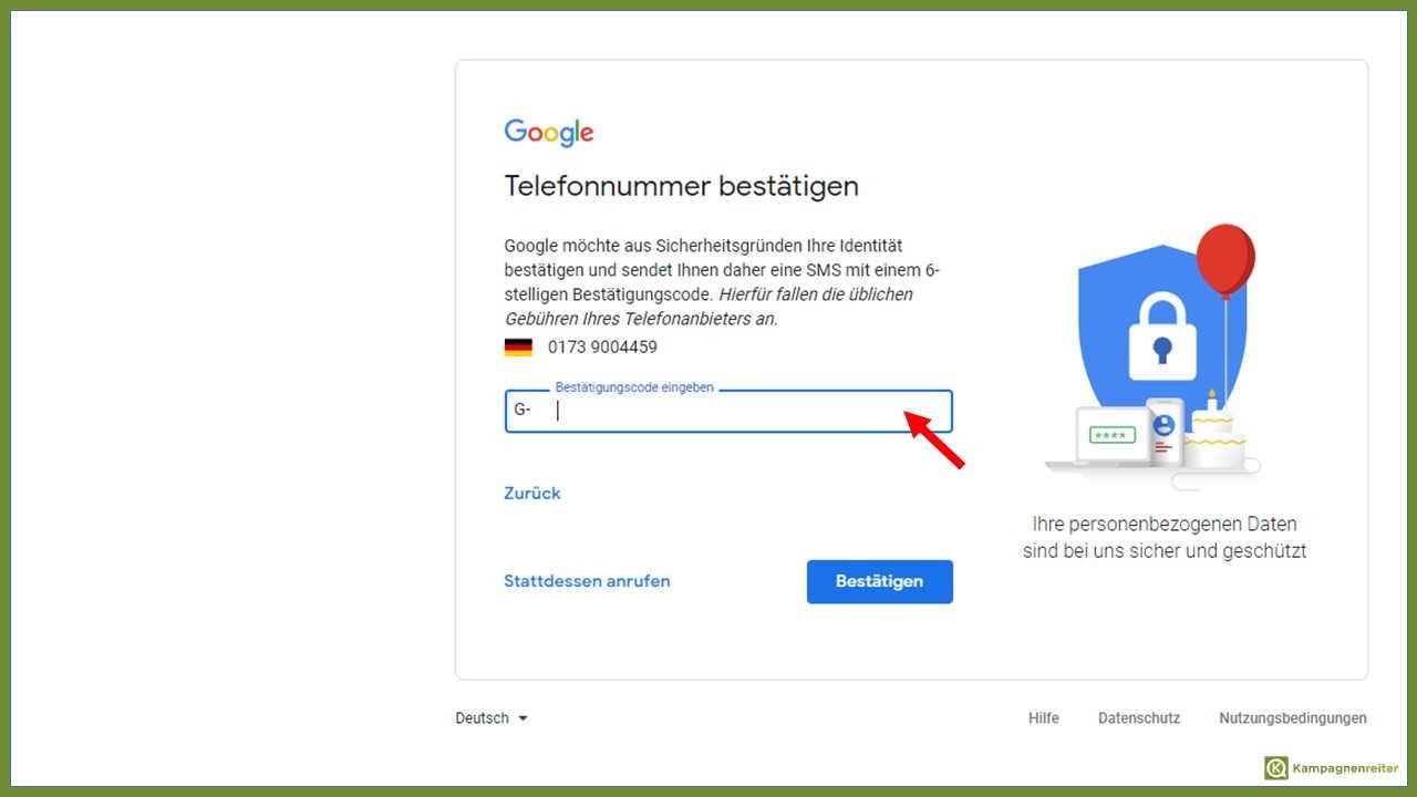 Handynummer interhesu: ohne google konto Ohne Telefonnummer